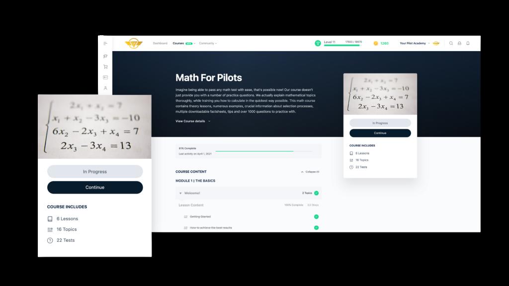 Math for pilots selection preparation course