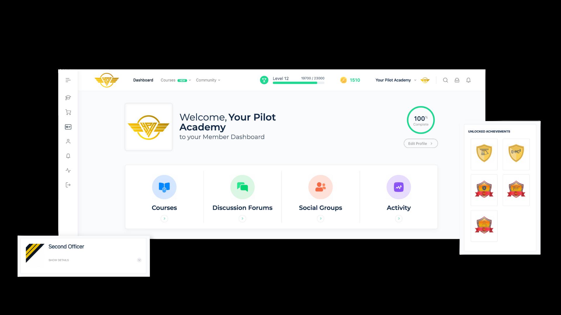 Your Pilot Academy - Pilot Dashboard